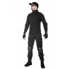 Легкая тактическая мужская рубашка GONGTEX TRAVELLER SHIRT, полиэтер-эластан, цвет Черный