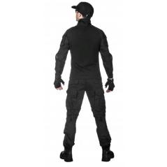 Легкая тактическая мужская рубашка GONGTEX TRAVELLER SHIRT, полиэтер-эластан, цвет Черный купить в Москве